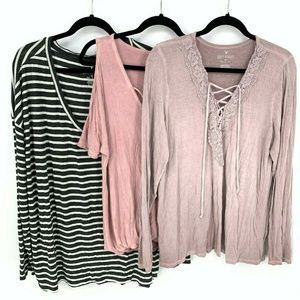 American Eagle Outfitters Soft & Sexy Top Bundle